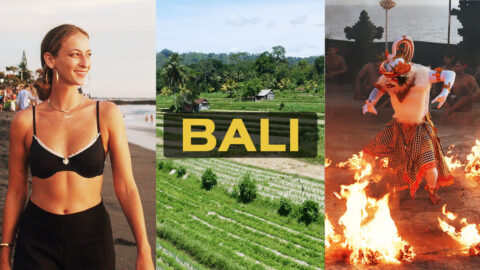 Images of Bali and the host of 60 Second Cities, Annie Georgia Greenberg